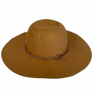 Hat Attack Camel Wide Brim Wool Felt Fedora